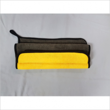 Тряпка Microfibra серо-желтая