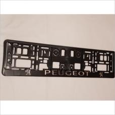 Рамка номера Peugeot 2шт